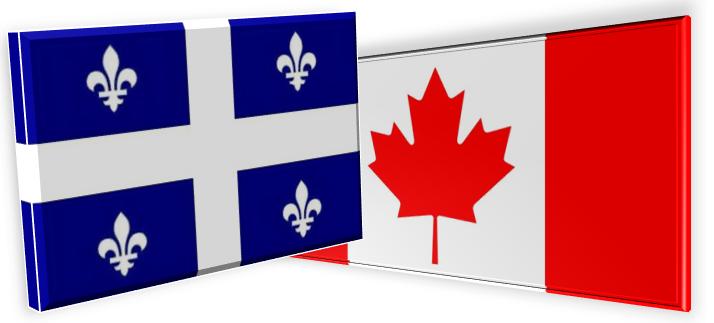 Drapeau commun canada quebec